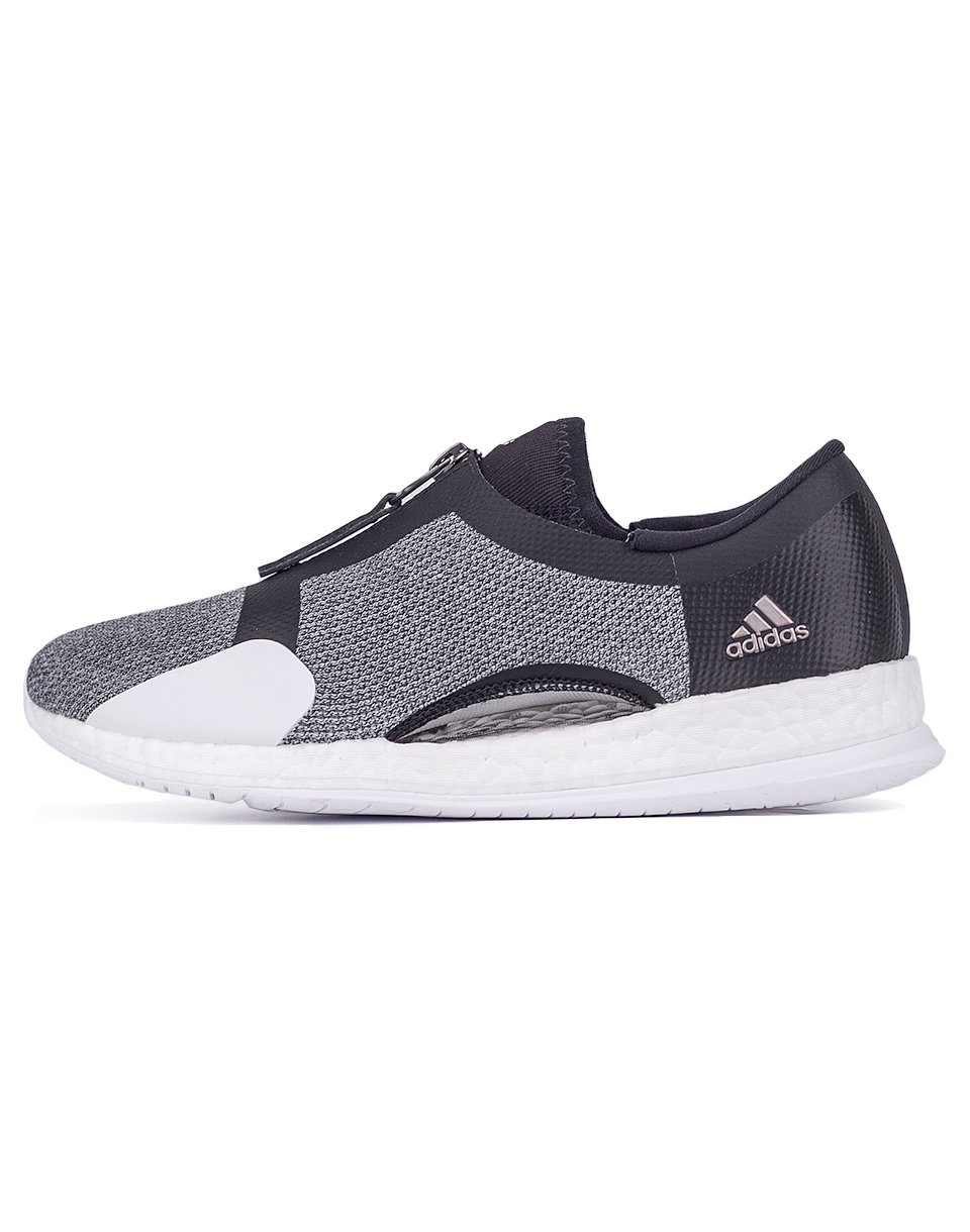 Sneakers - tenisky Adidas Performance Pure Boost x Trainer Zip Core Black / Silver Metalic / Footwear White