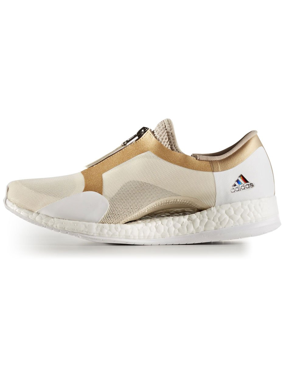Sneakers - tenisky Adidas Performance Pure Boost x Trainer Zip Linen / Trace Khaki / Tactile Gold Metalic
